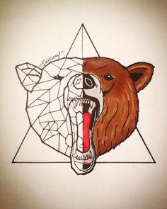 Tattoo Idea - Geometric Bear