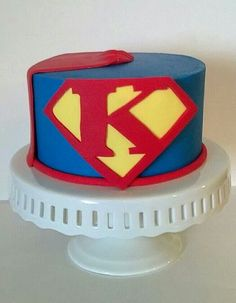 Superhero smash cake for Super Kooper - www.facebook.com/cakesbybethany