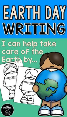 Earth day writing/ Earth day activity for kids/ Earth day activity for elementary/ Taking care of the Earth Earth Day Activities, Writing Activities, Activities For Kids, Earth Day Poems, Earth Day Coloring Pages, Earth Day Crafts, Day Book, Teaching Ideas, Literacy