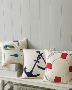 Garnet Hill Canvas Pillow Cover Collection #nautical