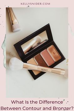A simple breakdown of the difference between bronzer and contour! Do you feel a little lost when it comes to contour and bronzer? Unsure what the difference is, where to apply, and how? Here is my complete guide to bronzer vs. contour! We give you a complete look at the difference and when each one is the right pick for you! What you need to know about defining your features with bronzer and contour is here! Beauty Tips For Hair, Diy Beauty, Beauty Hacks, Daily Beauty Routine, Everyday Makeup Routine, Makeup Tutorial Step By Step, Easy Makeup Tutorial, Simple Everyday Makeup, Simple Makeup