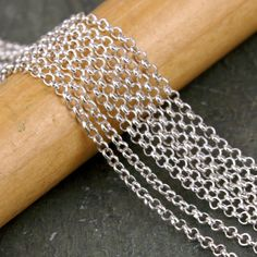15ft-Bronze-Copper-Black-Silver-Plated-2mm-Small-Rolo-Link-Chain-Necklace-Findin