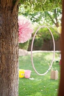 hula hoop would make a great ball toss game.