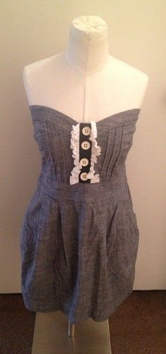 Cute and slightly nautical....add boots and a sweater for easy Fall wearability!