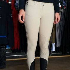 Equiline Ash Knee Patch Breeches - Front
