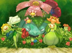 Grass Pokemon Art by EMworks.