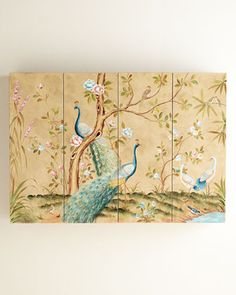 Lacquered Chinoiserie Cabinet Hides Flat Screen TV
