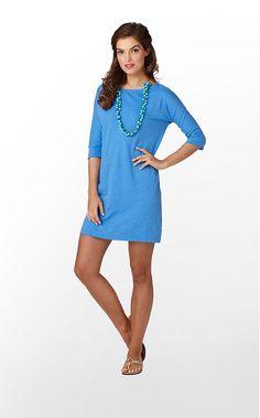 Cassie Dress Slub in Worth Blue by Lilly Pulitzer $88
