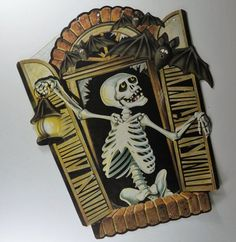 Vintage 1983 Beistle Skeleton Bats Decoration By HouseOfTheFound