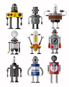 Pitarque Robots by Raul Gomez estudio, via Behance