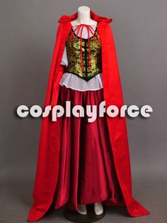 Once Upon a Time Ruby's Red Riding Hood Damask by cosplayforce, $139.00