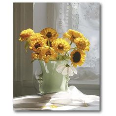 'Black-eyed Susan' Drawing Print on Wrapped Canvas