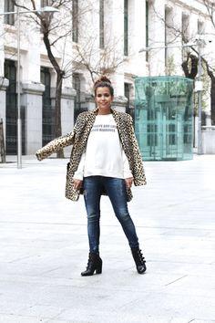 Leopard Coat & Sweatshirt | Collage Vintage