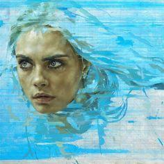 El artista británico Jonathan Yeo ha escogido a una de las reinas de Instagram como musa de su último proyecto.