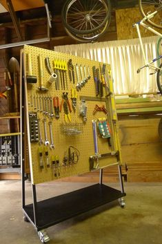 How to build an organized peg board.                                                                                                                                                                                 More