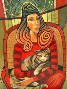 Lidia Simeonova, 'Maria with Cat'via