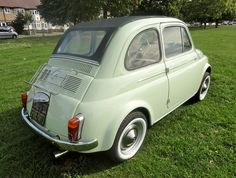 Fiat 500 D Model 1964 Suicide Door in Pastel Green from RICAMBI FIAT by Ricambi Fiat 500