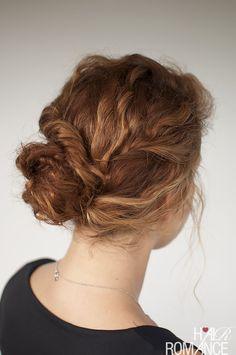 Hair Romance - Curly hair tutorial - Twisted bun hairstyle - click through for full tutorial