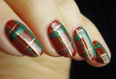 Love Life Lacquer: 12 Days of Christmas Challenge: Red & Green Plaid Nails!