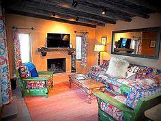 Vibrant living room of Artesano in Santa Fe