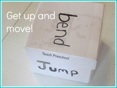 Get up and move with action cubes by Teach Preschool