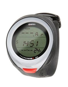 Mares Puck Pro Dive Watch Computer for Scuba Diving (Blue) Mares