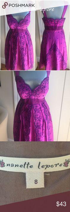 "⭐️Sale⭐️Nanette Lepore Dress Nanette Lepore Dress.  Bust 35"". Waist 30"". Shoulder to hem 37"". Gorgeous fabric and color.  Eyelet detail on entire dress is unique. Beautiful. Nanette Lepore Dresses"