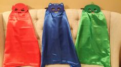 One (1) PJ Mask - Cape and Mask Set! PJ Mask Costume by SuperFlySprouts on Etsy https://www.etsy.com/listing/261857881/one-1-pj-mask-cape-and-mask-set-pj-mask