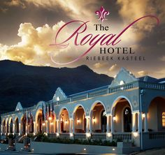 Hotel - The Royal Hotel, Riebeek Kasteel. The grand old Royal hotel is located in Riebeek Kasteel, the village forming together with Hermon and Riebeek West the picturesque and tranquile Riebeek Valley and part of the Wineland route. Local History, Bed And Breakfast, South Africa, Taj Mahal, Scenery, Country, Places, Wedding Fun, Twitter