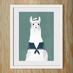 Poster / A3 / Lama-Matrose
