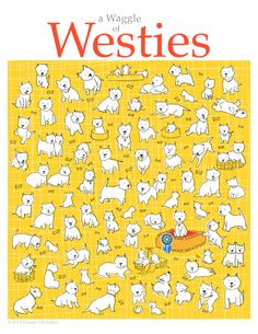 A Waggle of Westies Signed and Numbered by DeniseChevaliercom, $12.00