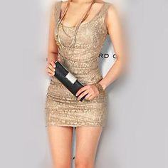 Women's Sexy Lace Bodycon Mini Dress – USD $ 20.99
