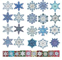 Simply Snowflakes Applique