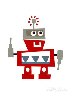 Red Robot with Smile Posters sur AllPosters.fr