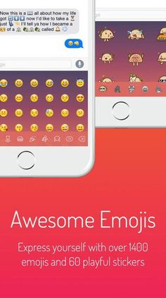 The Next Keyboard app allows you to personalize the keyboard with different themes and lets you add extra large emoji or chat app-style stickers