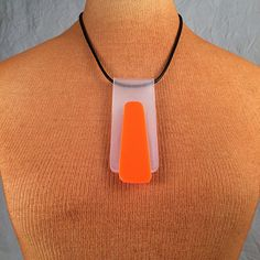 Handcrafted Acrylic Pendant Statement Necklace: by MetalloCraft