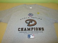 NEW Vntg Arizona Diamondbacks  MLB  T Shirt Sz XL - 2001 WORLD SERIES CHAMPS #Lee #ArizonaDiamondbacks