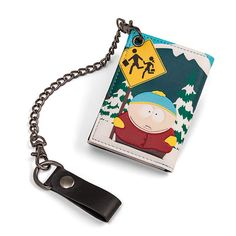 South Park Trifold Chain Wallet - Exclusive  I'm goin' down to South Park, gonna get myself a wallet… For all you South Park fans who also need to carry money around (and who doesn't?), now you can have Stan, Kyle, Cartman, and a still-living Kenny, waiting at the bus stop in the always-wintry South Park, Colorado, securely holding on to your cards and cash.   via @AnotherUniverse.com  https://anotheruniverse.com/south-park-trifold-chain-wallet-e