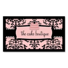 Icing on the Cake Tier Sweet Icing Pink Boutique Business Card Template