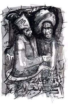 Mhuysticnake#Ink and toner wash on paper#Bilal Dadou#drawing#esoteric#psicology#berber#mystic#tipography#berber#northafrican#archtyp