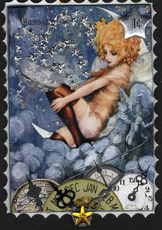 New Years Postage Stamp ATC | by lauracars12000