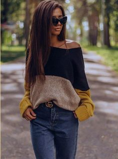 Winter Sweaters, Sweater Weather, Sweaters For Women, Stylish Winter Outfits, Fall Outfits, Cute Outfits, Backless Long Dress, Casual Blazer Women, Crochet Girls