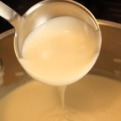 Food Wishes Video Recipes: The Incredibly Simple Secret to Lump-Free Sauce  Works fine with FF milk. 1/3 recipe is good amount for two people (fresh ravioli, for example). Make white sauce in one dish; in another, saute garlic, shallots, mushrooms in butter, sprinkle some chicken bouillon for flavor. Combine.