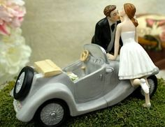 Wedding cake toppers can say a lot about the groom and bride. To see some of the most outrageous wedding cake toppers, check out today´s post. Wedding Car, Wedding Humor, Wedding Couples, Wedding Bells, Cute Couples, Wedding Ideas, Wedding Things, Wedding Planning, Dream Wedding