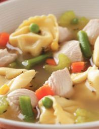 Chicken Tortellini Soup Healthy, hearty, and yummy!
