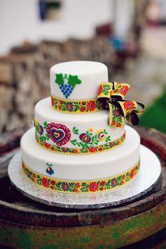 Svatební doert na tradiční vesnickou veselku s folklorními motivy. Quinceanera Cakes, Quinceanera Ideas, Food Inspiration, Wedding Inspiration, Polish Wedding, Mexican Party, Sweet Tooth, Wedding Cakes, Traditional