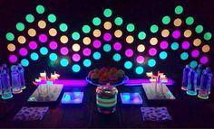 festa neon como organizar - Pesquisa Google