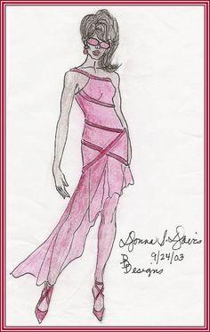 Asymmetric Chiffon Dress 2003