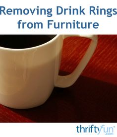 This is a guide about removing drink rings from furniture. Drink glasses or cups can leave marks on your furniture.