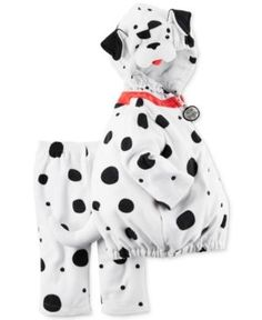 Baby Boy Carter's Little Dalmatian Dog Microfleece Costume & Bottoms Set, Size: 24 Months, White